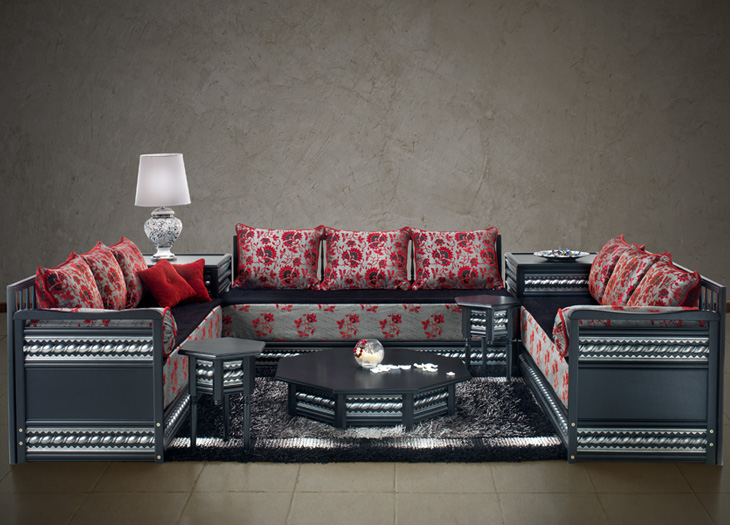 Salon Marocain Moderne Rouge. Excellent Cuisine Moderne Rouge Et ...